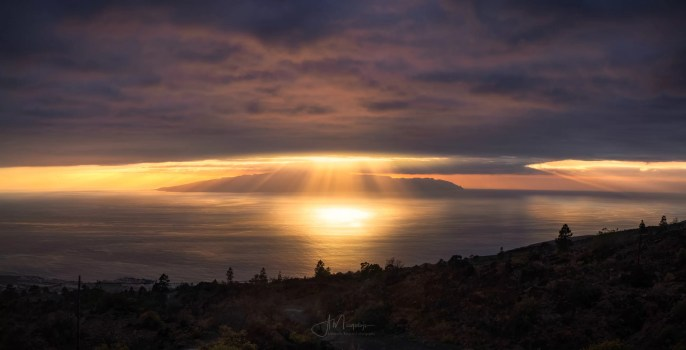 Sunset over La Gomera