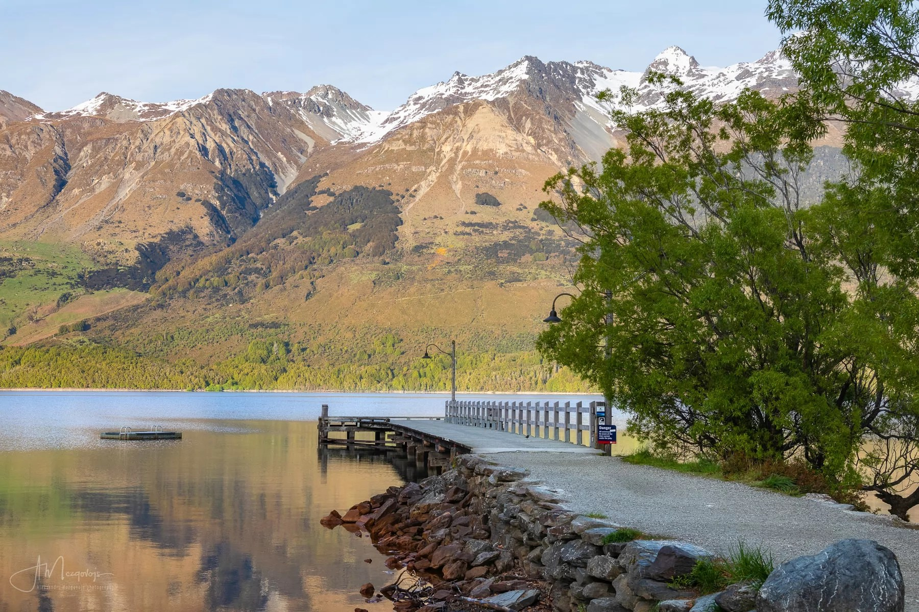 Glenorchy Dock in early morning light, New Zealand