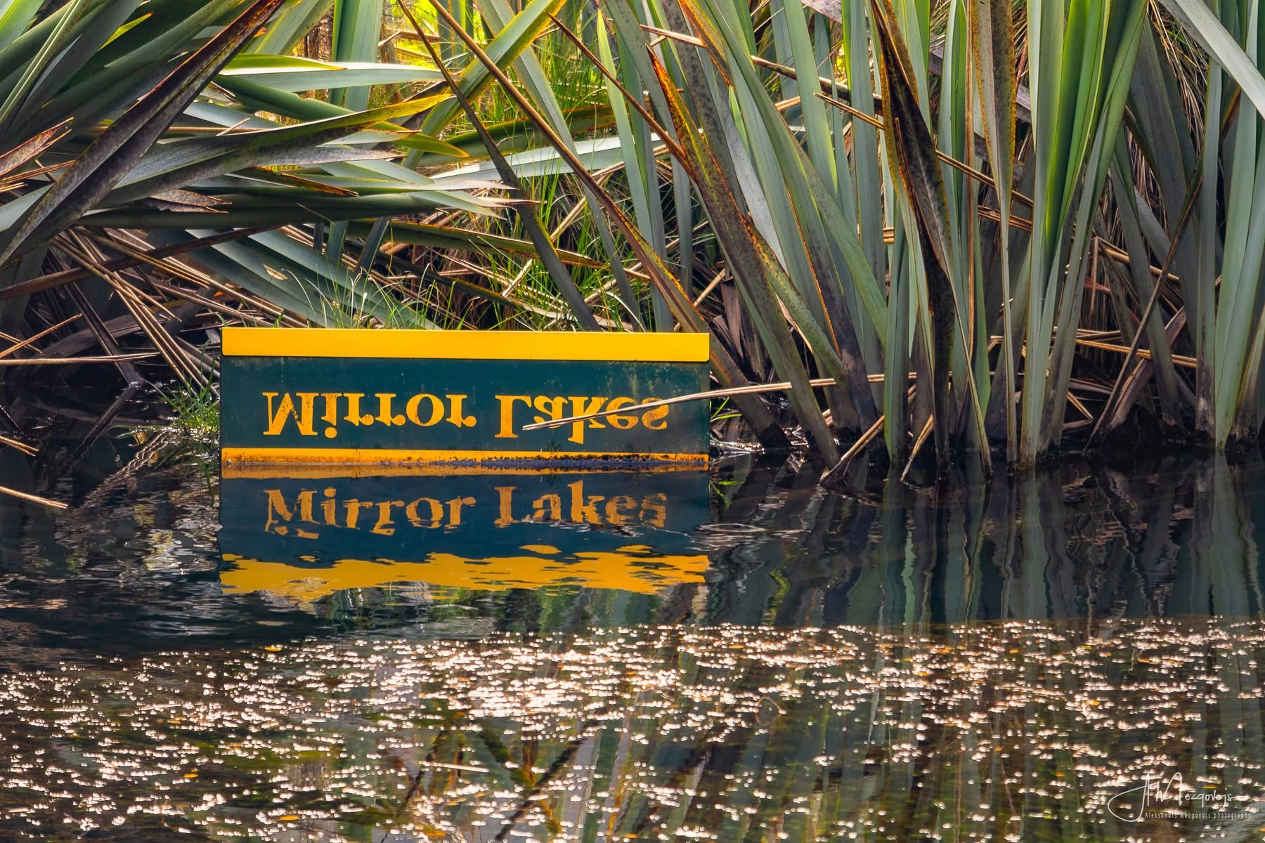 A typical photo from the Mirror Lakes