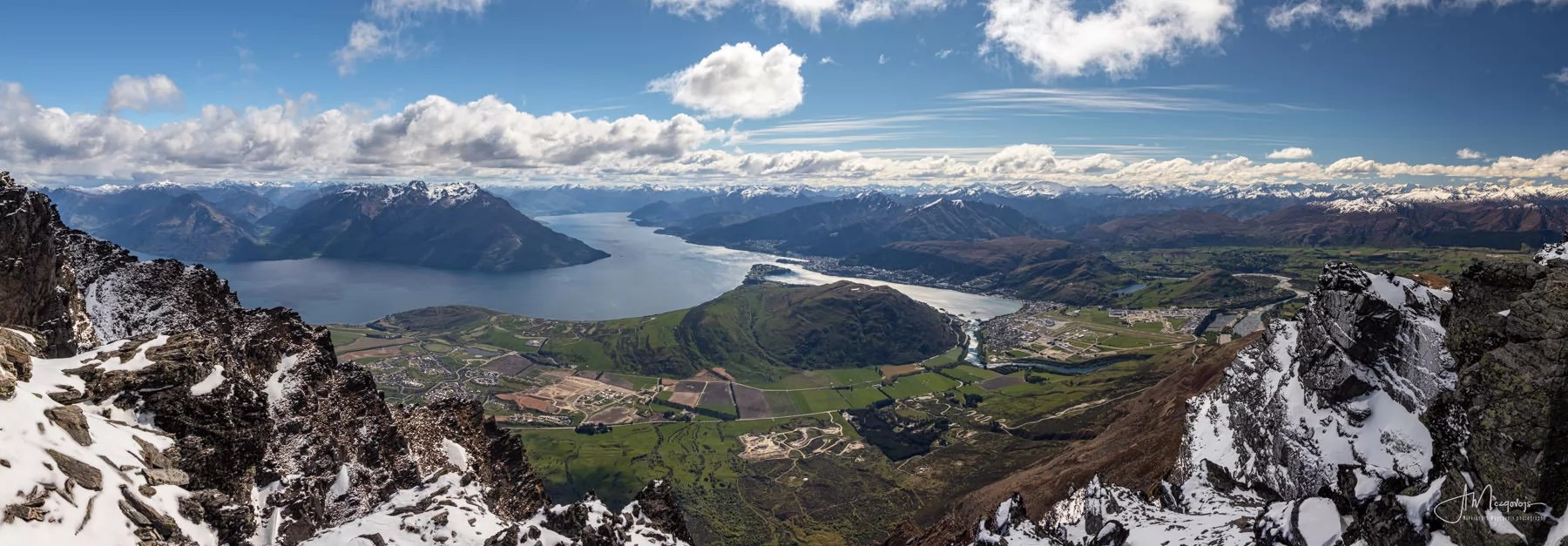 View of Queenstown from the Remarkables viewpoint, New Zealand