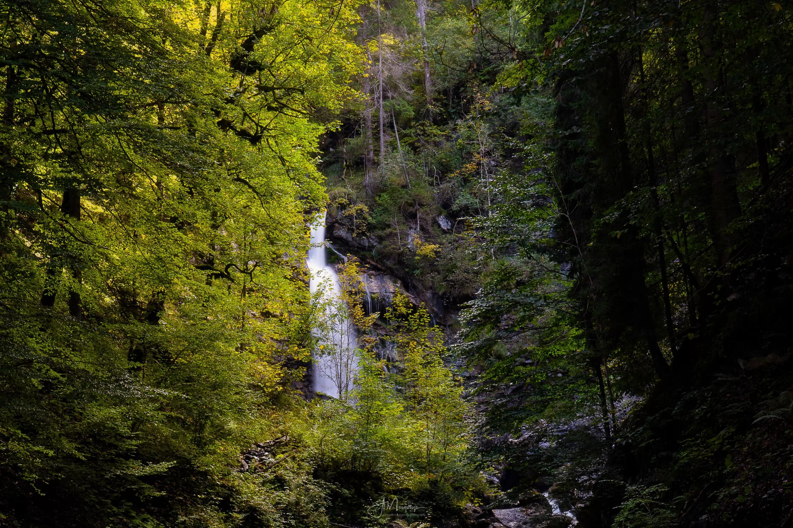 Waterfall on the Faltenbach River