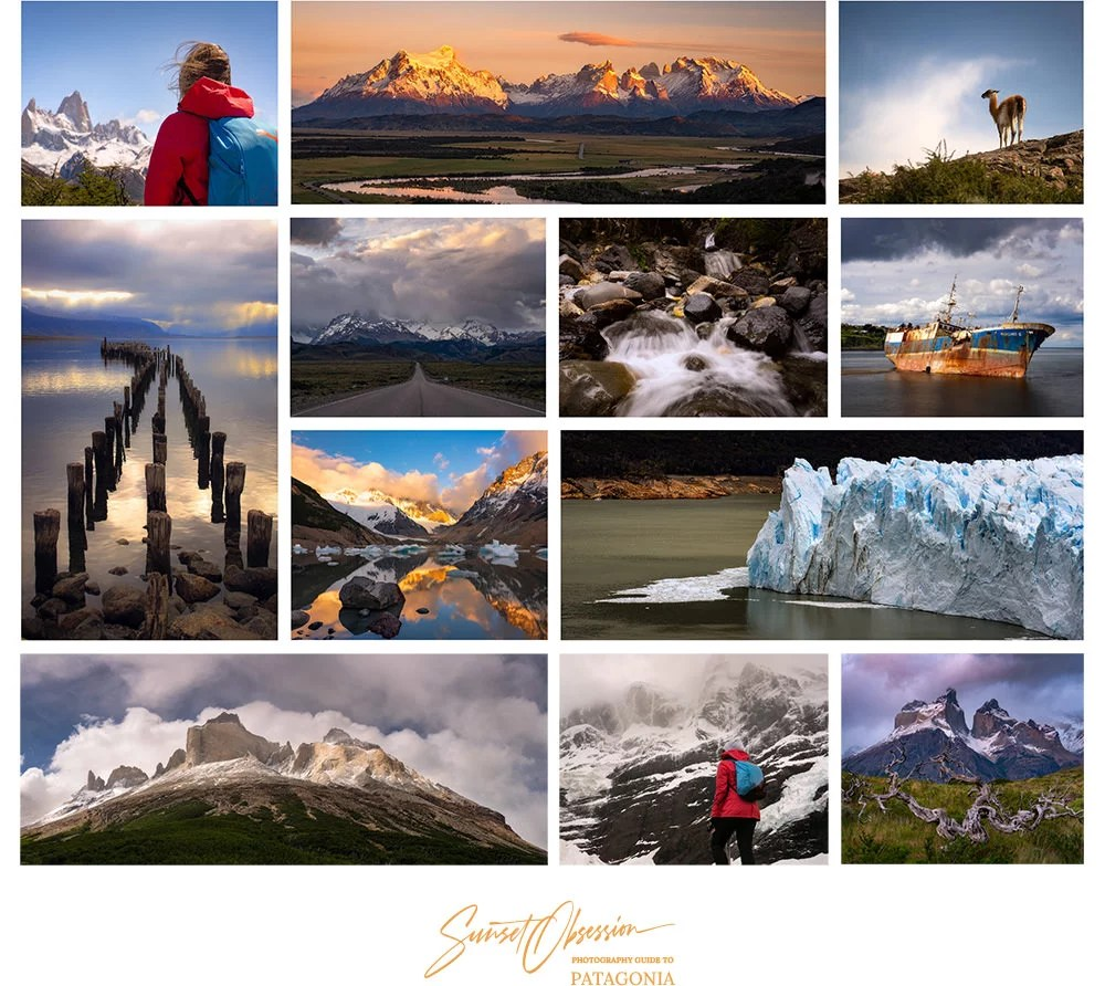 Sunset Obsession Photography Guide to Patagonia features more than a 100 images