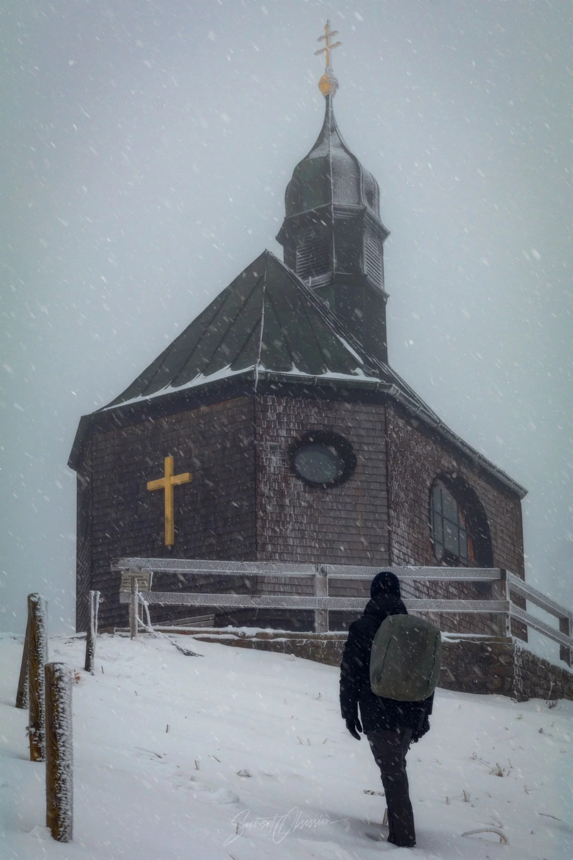 A chapel on top of the mountain, South Germany