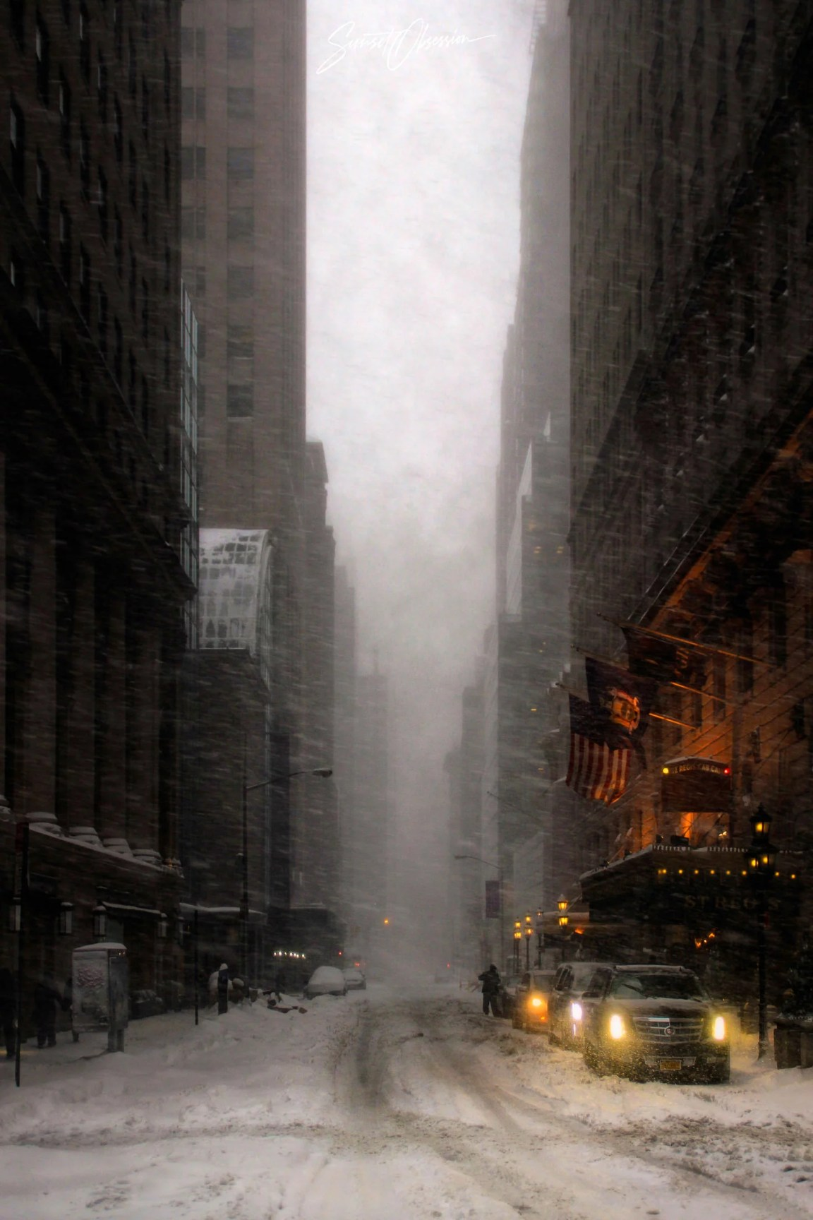 Snow storm in New York, 2016