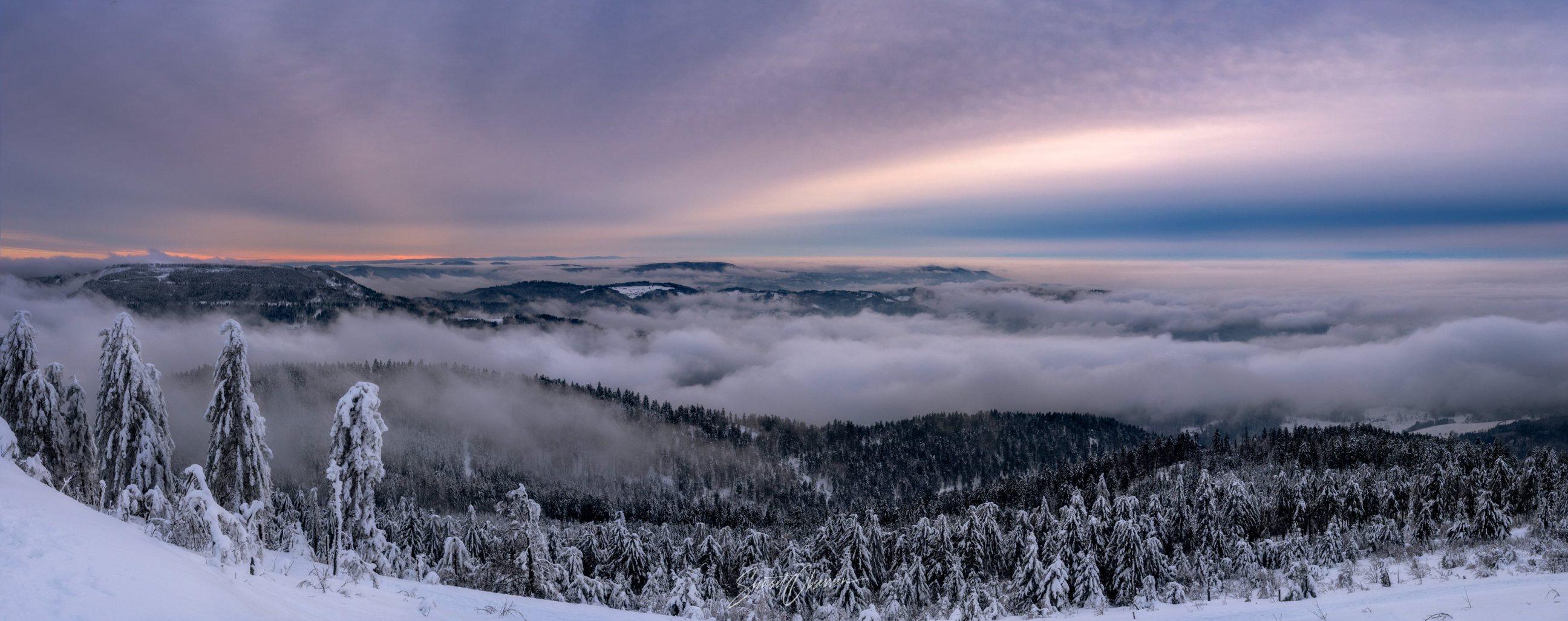 Sunset over Black Forest, Germany