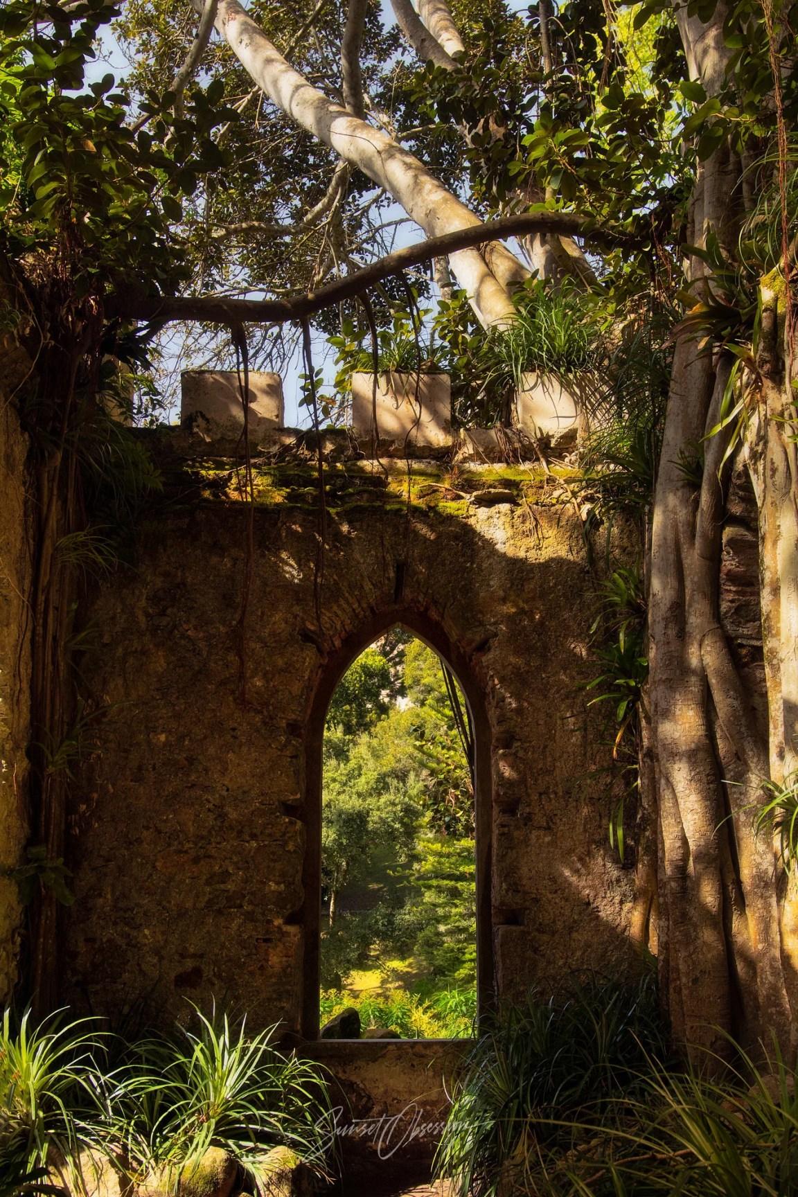 The false chapel ruin in Monserrate is really pretty convincing!