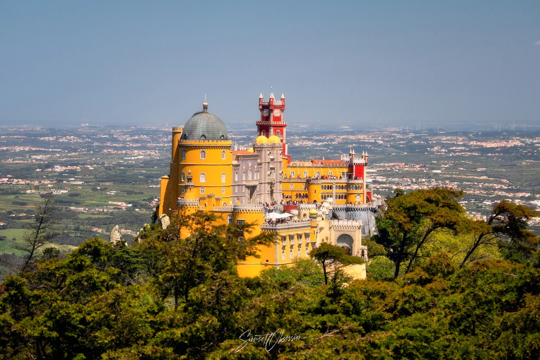 The Pena palace as seen from Cruz Alta viewpoint, Sintra
