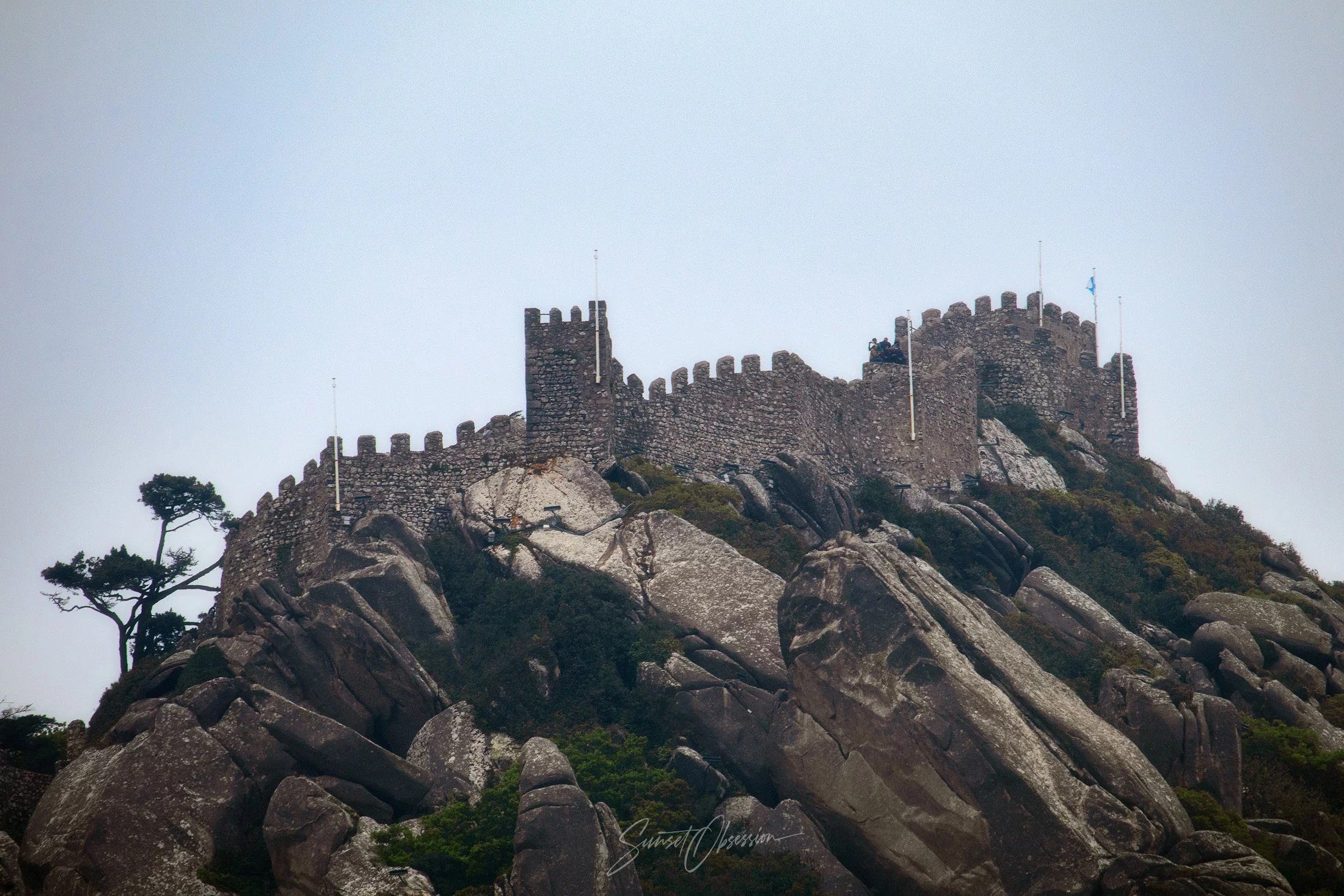 The Castle of the Moors is a great photo spot for an overcast day in Sintra