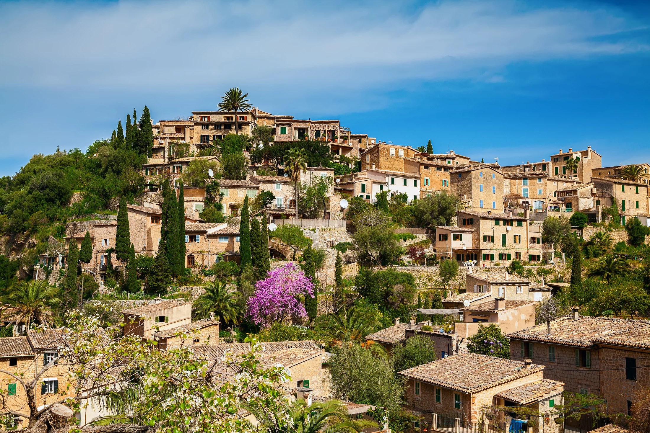 A dreamy village of Deià in the north of Mallorca has many great photo spots