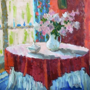 winters-Dining Room in Red 24x24w