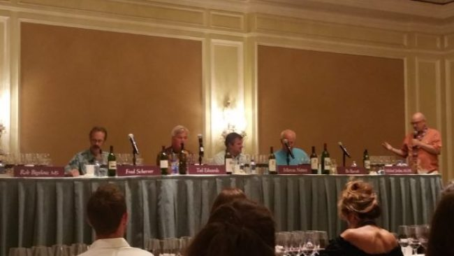 discussion panel at the wine tasting