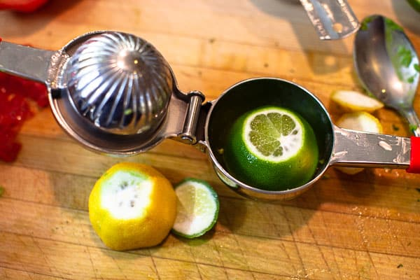 squeezing lemons and limes