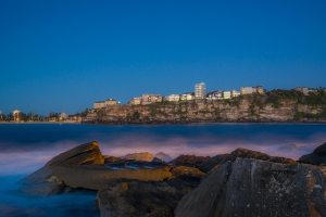 View of Manly beach in Australia