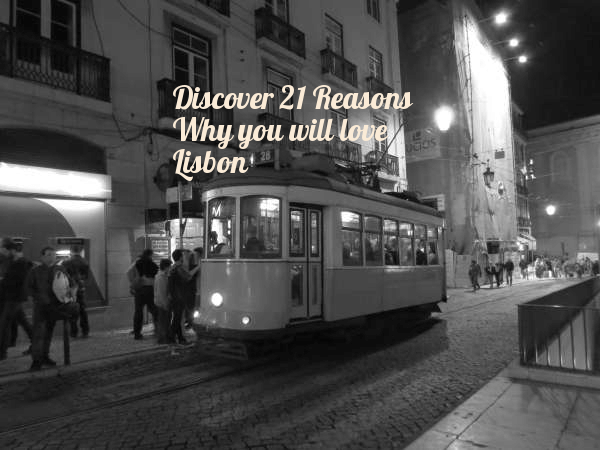 Tram 28 driving through Lisbon