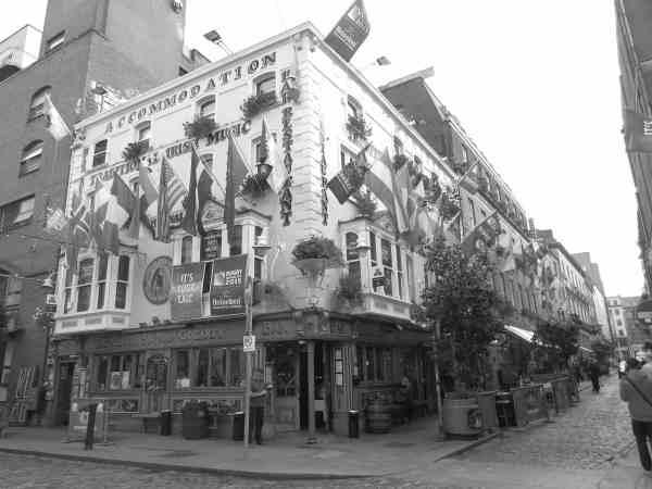 Most popular street in Dublin Ireland Temple Bar
