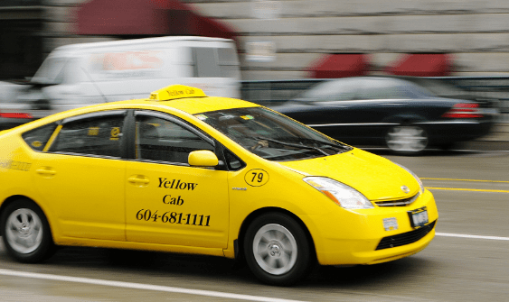 There is no UBER in Vancouver, yellow cab is the main taxi company