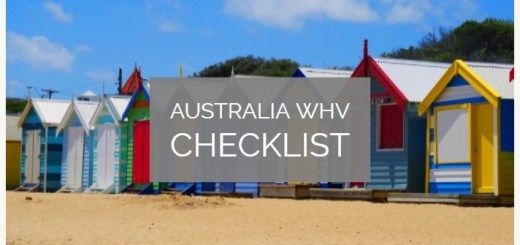 Working Holiday Visa Australia Checklist