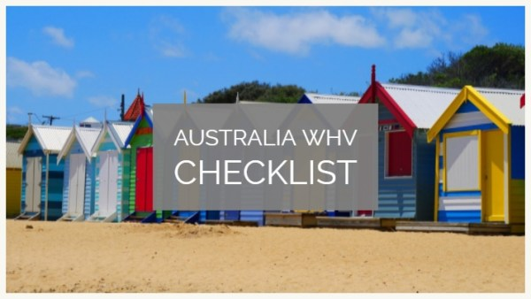 Working holiday visa australia checklist subclass 417 for Documents checklist visa 600