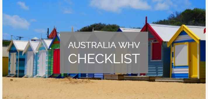 Working Holiday Visa Australia Checklist