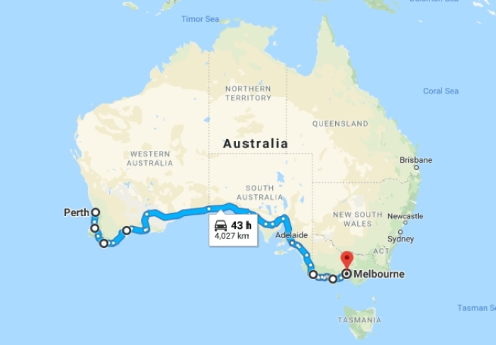 things to see on perth to melbourne road trip