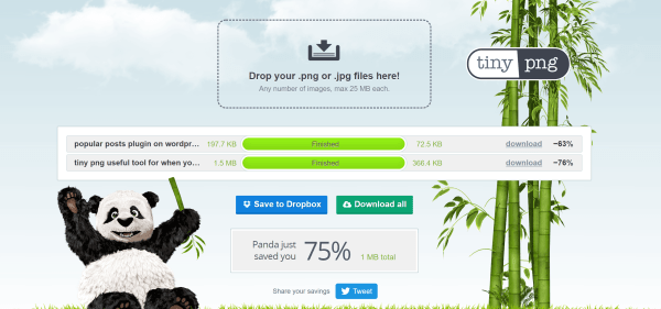 TinyPNG a great tool for when you start a travel blog and want to optimise images