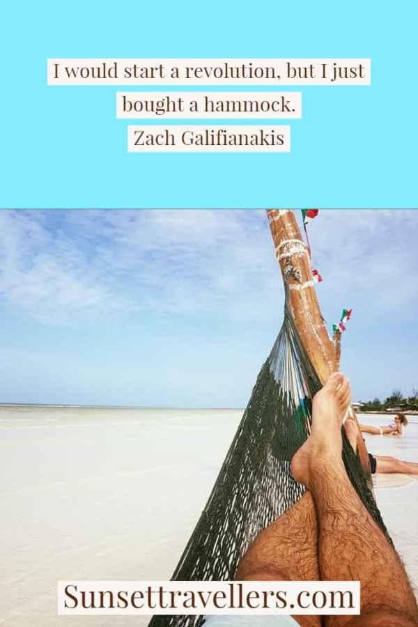 Hamock life - travel quotes from Holbox Island, Mexico.