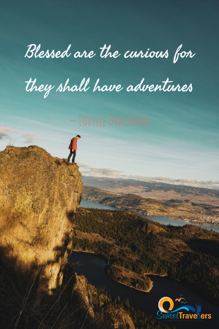 Blessed are the curious for they shall have adventures. – Lovelle Drachman