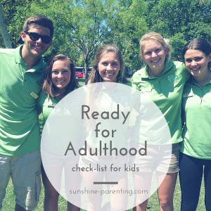 Ready for Adulthood Check-List for Kids
