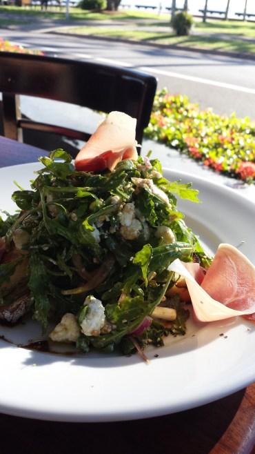Prosciutto and feta salad