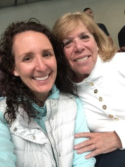 First time in the stands together at a winter swim meet for my mom and me.