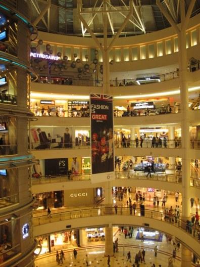 Inside the Petronas Towers: a shopping mecca.