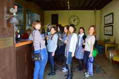 Everyone is happy tasting wine, Witches' Falls Winery Tamborine