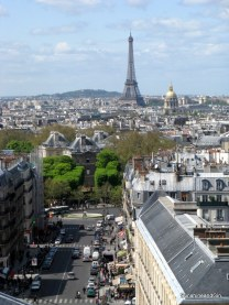Avenues of Paris and the Eiffel Tower