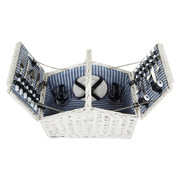 Flamant Ellis white picnic basket for Diner en Blanc