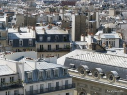 The rooves and chimneys of Paris