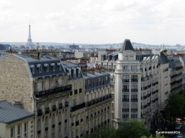 The view from our apartment window, Paris.