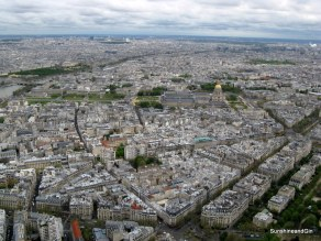 The view of Paris from the Eiffel Tower