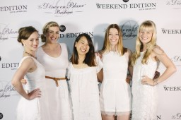 B, Kirst and their friends Gabi, Claire and Gemma in the Weekend Edition photobooth.