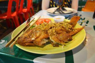 Fried whole fish in Bangkok