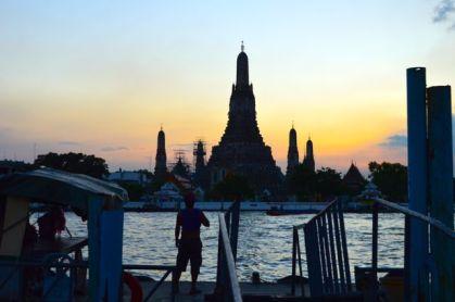 Wat Arun at dusk, Bangkok