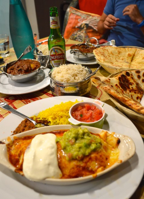 Our meal at Indimex