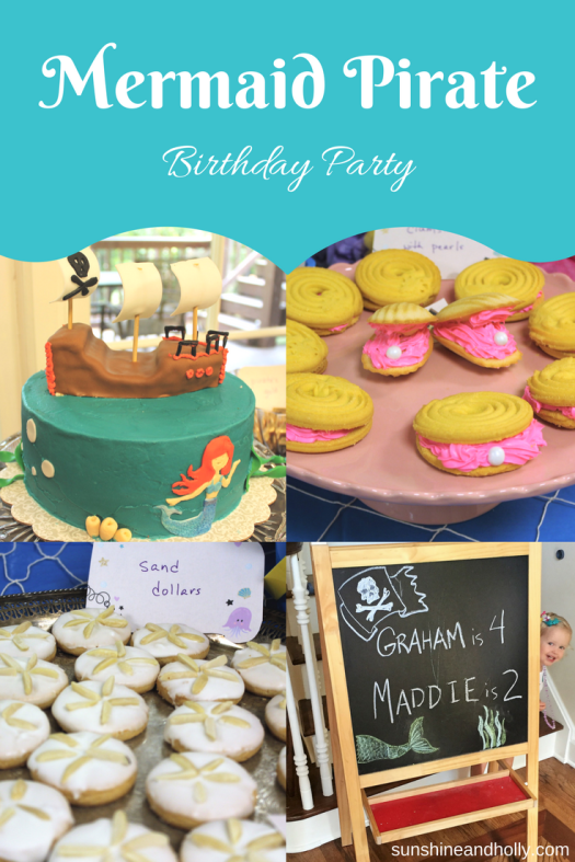 Mermaid Pirate Birthday Party | sunshineandholly.com | themed joint party