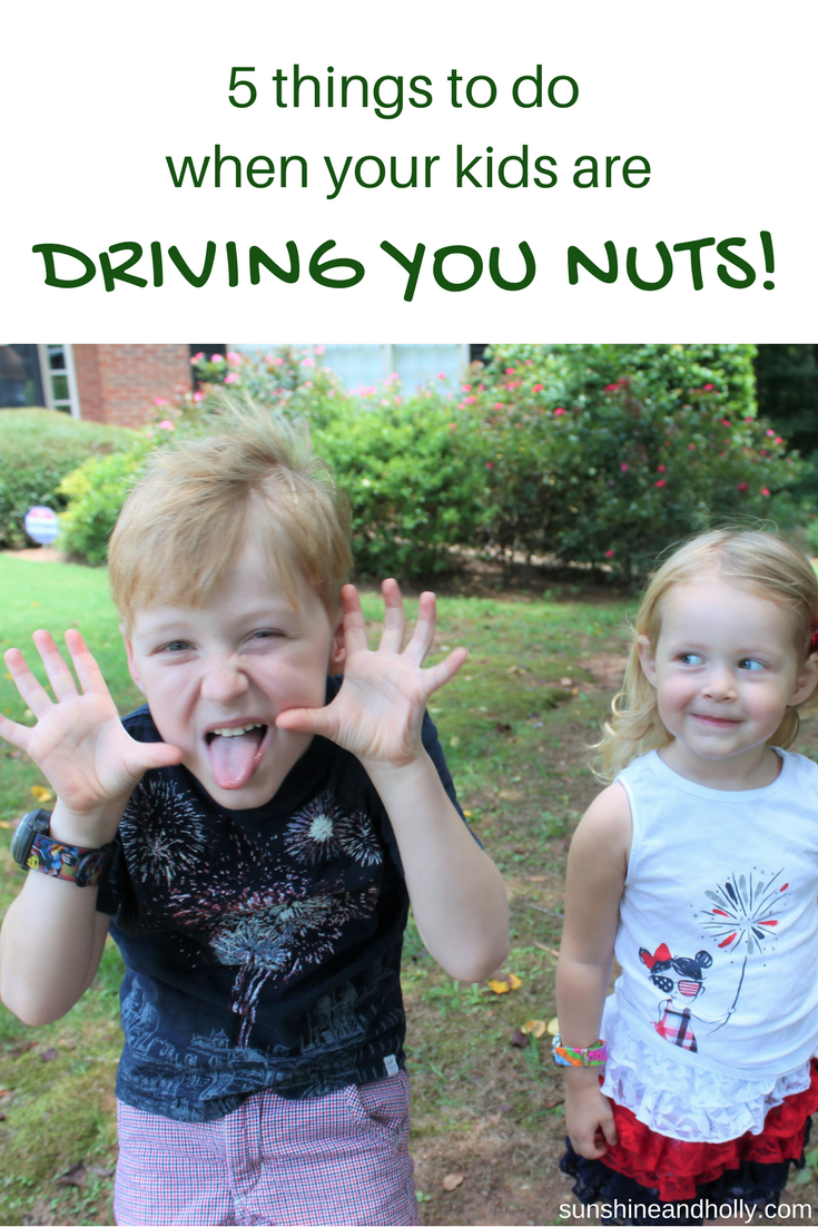 5 Things to do When Your Kids are Driving You Nuts | sunshineandholly.com | kids activities | tired mom | toddler activities