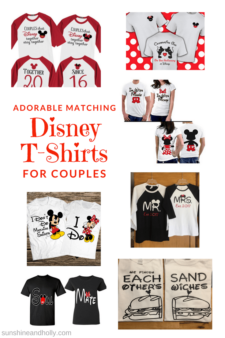Adorable Matching Disney World T-Shirts for Couples | sunshineandholly.com  | anniversary |