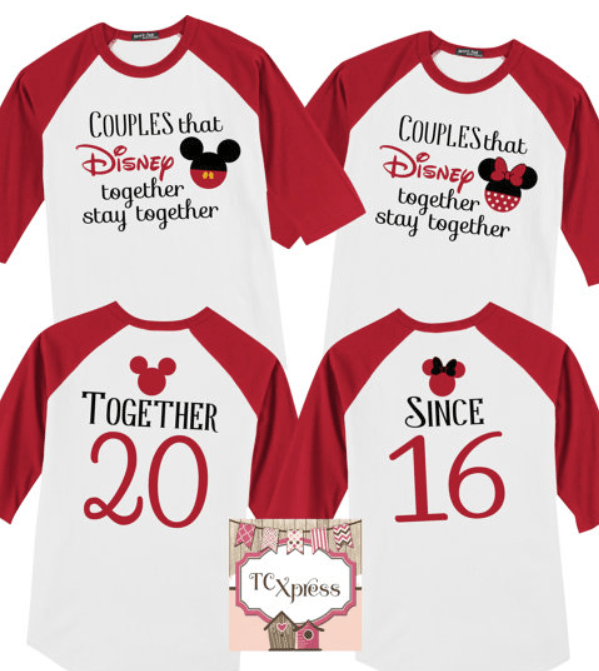 Adorable Matching Disney World T Shirts For Couples