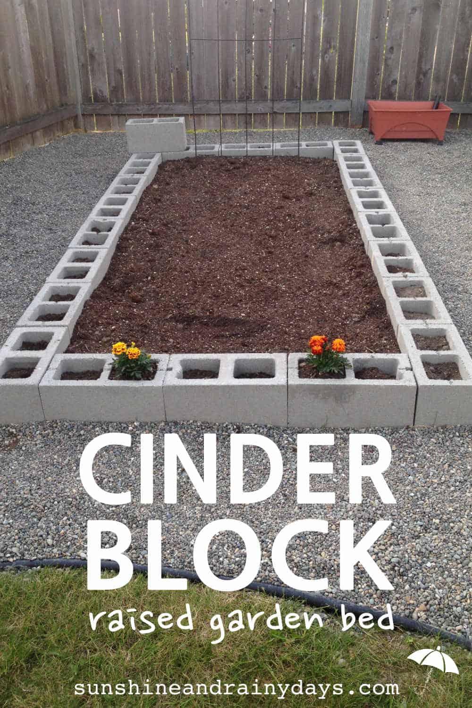 How Build Raised Garden Concrete Blocks