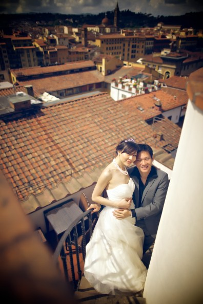 Bride and Groom in Florence