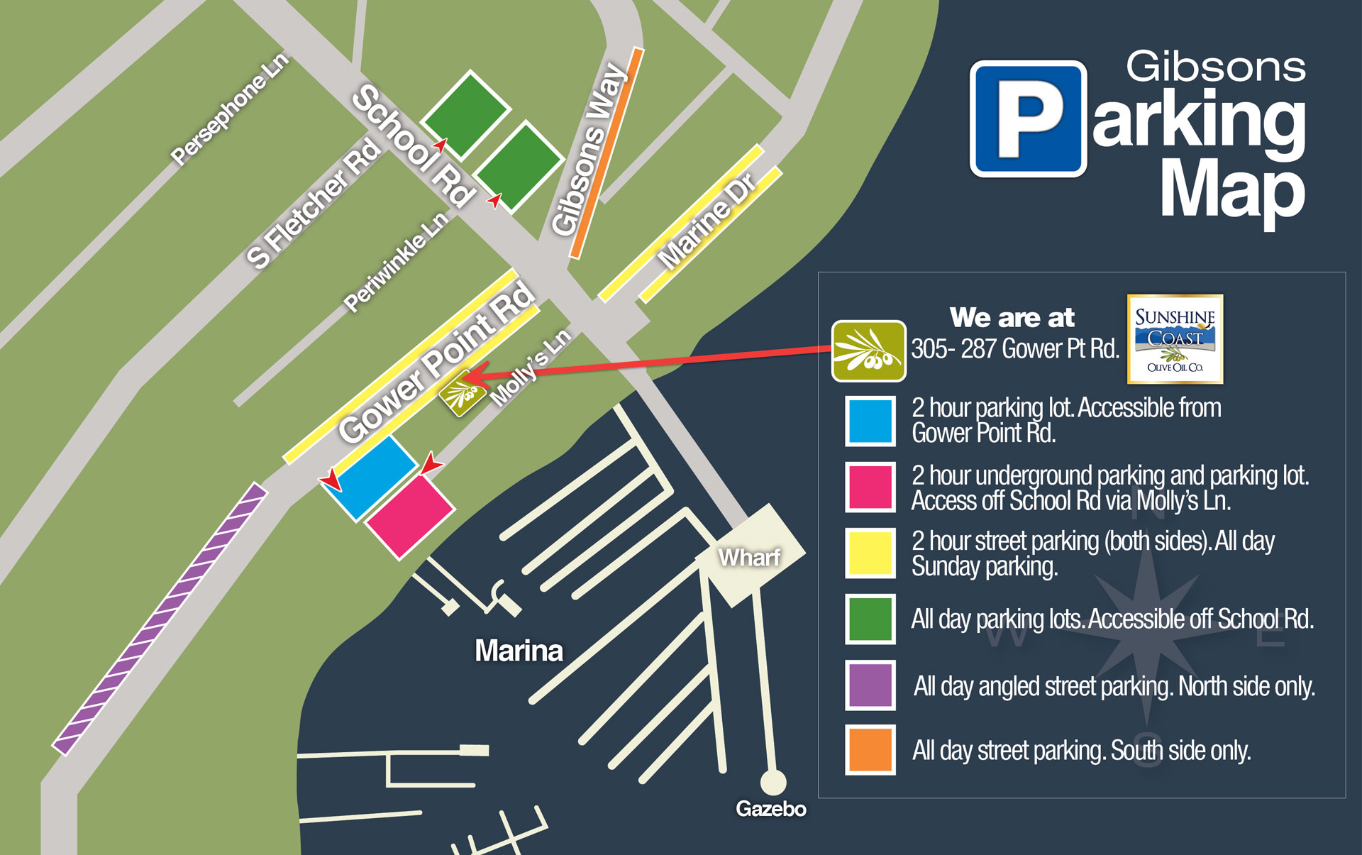 Parking Options When Visiting Us Gibsons