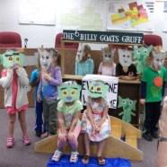 Preschool class performs Three Billy Goats Gruff