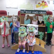 Preschool class performs Three Billy Goats Gruff